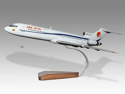 Boeing 727-200 Aces Aerolineas Centrales De Colombia Wood Handmade Desktop Model Airlines