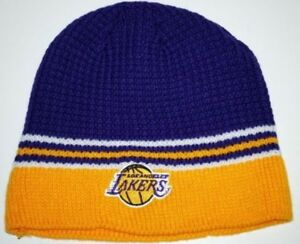 173915def6b Image is loading Los-Angeles-Lakers-NBA-Licensed-Waffle-Knit-Basketball-