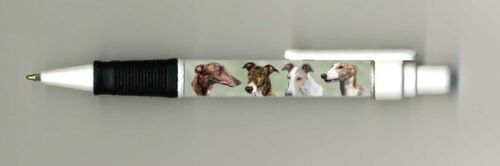 Greyhound Dog Design Retractable Acrylic Ball Pen by paws2print