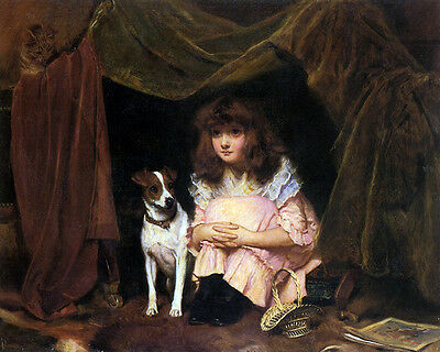 Charles Burton Barber - The Hiding Place  - 24'  CANVAS