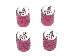 Unicorn-Fantasy-Tire-Rim-Wheel-Valve-Stem-Caps-Pink