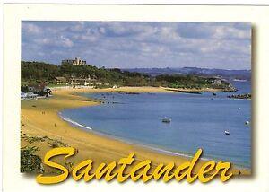 Espana-TARJETA-POSTAL-SANTANDER-Playa-de-la-magdalena