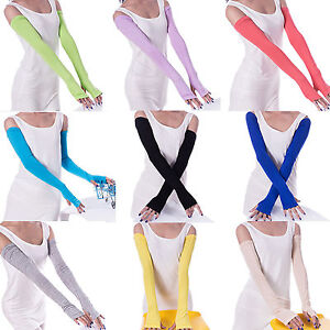 Colorful-Cotton-Arm-Gloves-Women-Warmer-Protection-Sleeves-Long-Fingerless