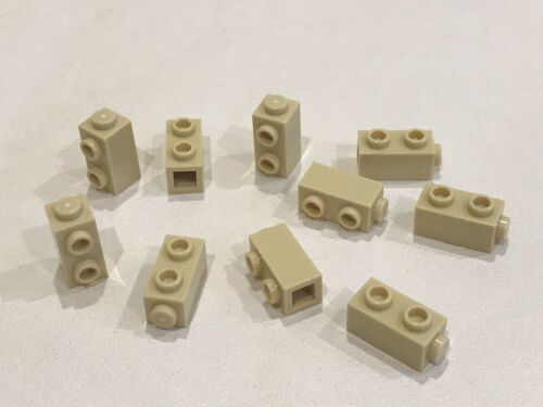 10x Lego 1x1x1 2//3 Bricks 2 Knobs on 1 Side BB2E P//N 32952 NEW TAN
