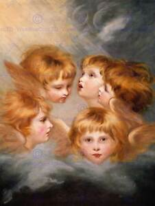 JOSHUA-REYNOLDS-HEADS-ANGELS-MISS-FRANCES-GORDON-SIR-PRA-OLD-ART-PRINT-1710OM