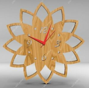 Nice Clock Design Dxf Eps File For Cnc Plasma Router Laser Water