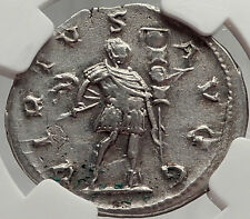 GALLIENUS with SPEAR & Standard 258AD COLOGNE Ancient Silver Roman Coin i58538