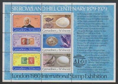 St Vincent Grenadines - 1979, Rowland Hill Sheet - Birds - Mnh - Sg Ms155 Bekwame Productie