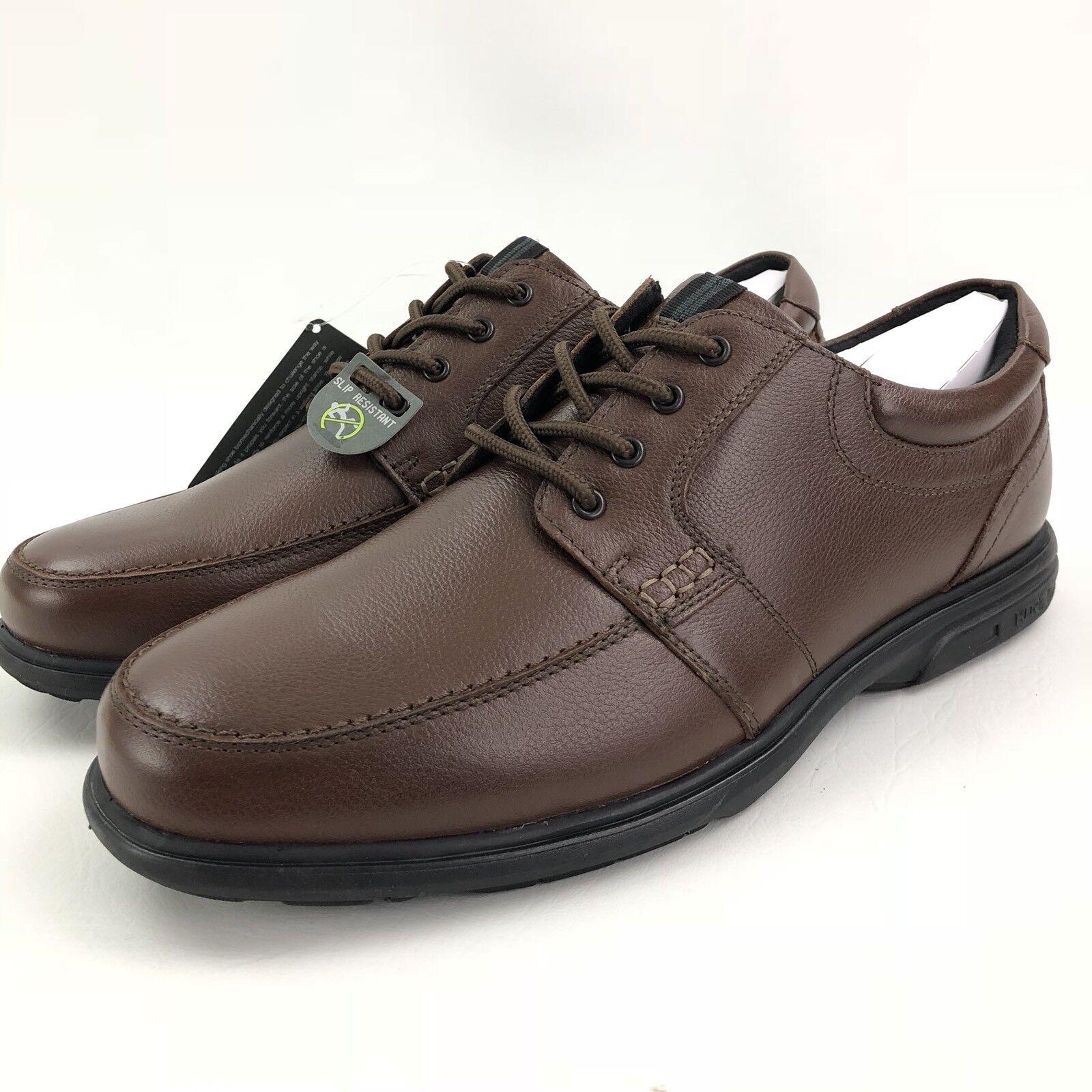 NUNN BUSH Men's CARLIN Brown Leather Casual Oxfords US 8 M 84562-200 NEW