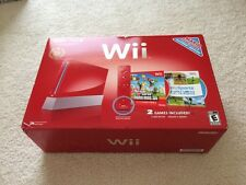 Brand New Nintendo Wii New Super Mario Bros Red Console 25th Anniversary Ed