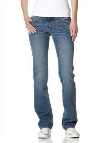 4Wards Jeans Gr.34,36,38,40 L32 Damen Stretch Denim Light Blue Used Push Up Hose