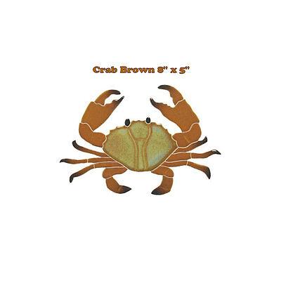"""Crab 8/"""" Green Mosaic Tile swimming pool Bath wall table bar patio walk way art"""