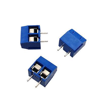20PCS KF301-2P Plug-in Screw Terminal Block Connector 5.08mm Green J14 AHS