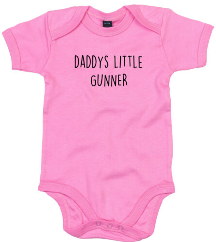GUNNER BODY SUIT PERSONALISED DADDYS LITTLE BABY GROW GIFT