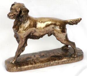 English Springer Spaniel Resin Bronze Sculpture Gift