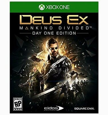 DEUS EX: MANKIND DIVIDED DAY ONE EDITION (XBOX ONE) [BRAND NEW GAME]