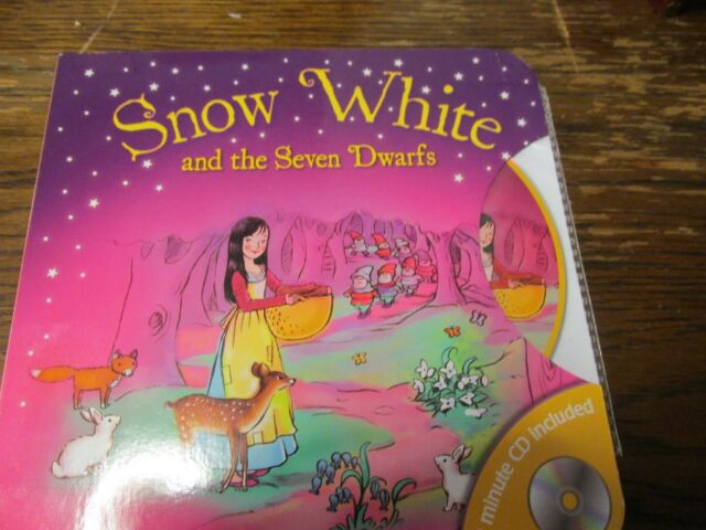 BOARD BOOK AND AUDIO CD SNOW WHITE AND THE SEVEN DWARFS Brand new Sealed