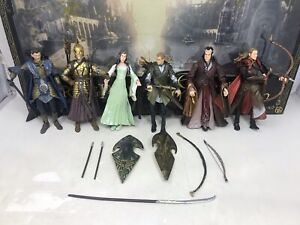 LORD OF THE RINGS ELVES OF MIDDLE EARTH ACTION FIGURES TOY BIZ 2005 With Box