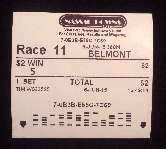 2015 Belmont Stakes Uncashed American Pharoah Win Ticket Triple Crown  Encased