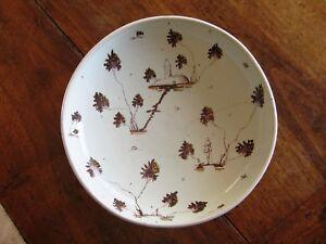 Alzata piatto porta frutta ceramica Cantagalli made in Italy epoca '900 25 cm