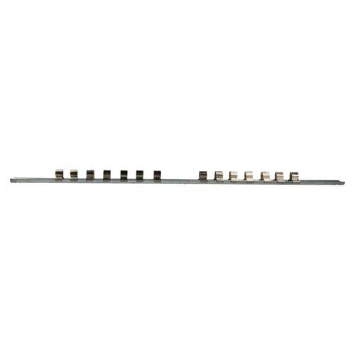 3//8 and 1//2 Sockets 42 Clips 3pc Socket Storage Holder Organiser Rails For 1//4