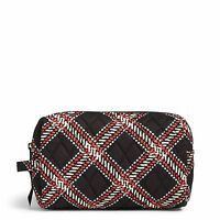 Vera Bradley Factory Exclusive Medium Cosmetic Makeup Bag In Minsk Plaid on sale