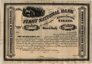 First-National-Bank-At-Lodi-Ohio-Stock-Certificate
