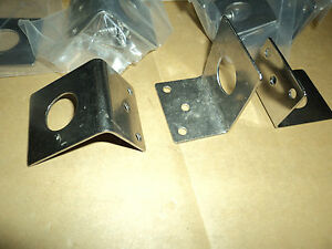 "10 Tram L Brackets 3/4"" NMO style STAINLESS STEEL Antenna Mount 1255 BRACKET LOT"
