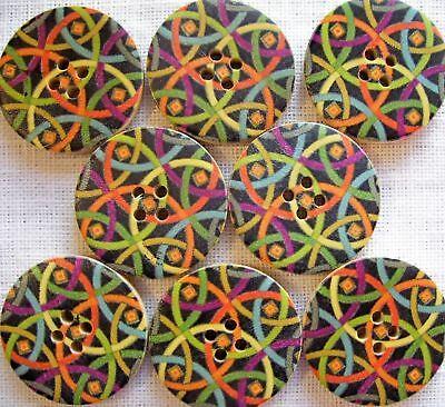 BOUTON BOIS ** 30 mm // 3 cm ** Fleurs Qté au choix de 2 à 6 boutons 30//014