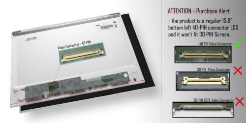 """NUOVO display 15.6/"""" per HP Pavilion 15-E078EA LED Schermo LCD 40 PIN WXGA Lucido"""