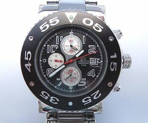 ADEE-KAYE-AK8026-MB-Black-Chronograph-Men-s-Watch-All-Stainless-Steel-with-Date