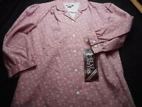 Crest Careers Pink Floral Uniform Vintage Small Women's Shirt