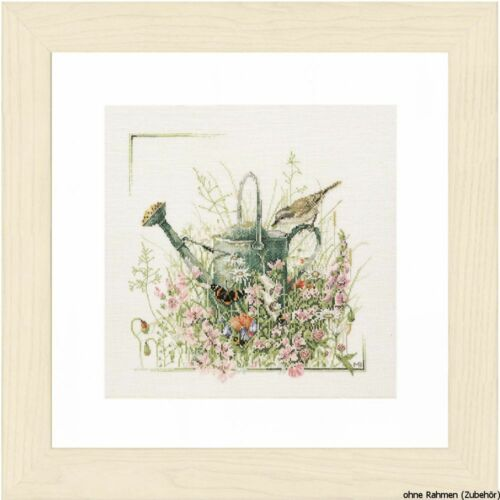 """counted Lanarte cross stitch kit /""""my watering can/"""" DIY"""