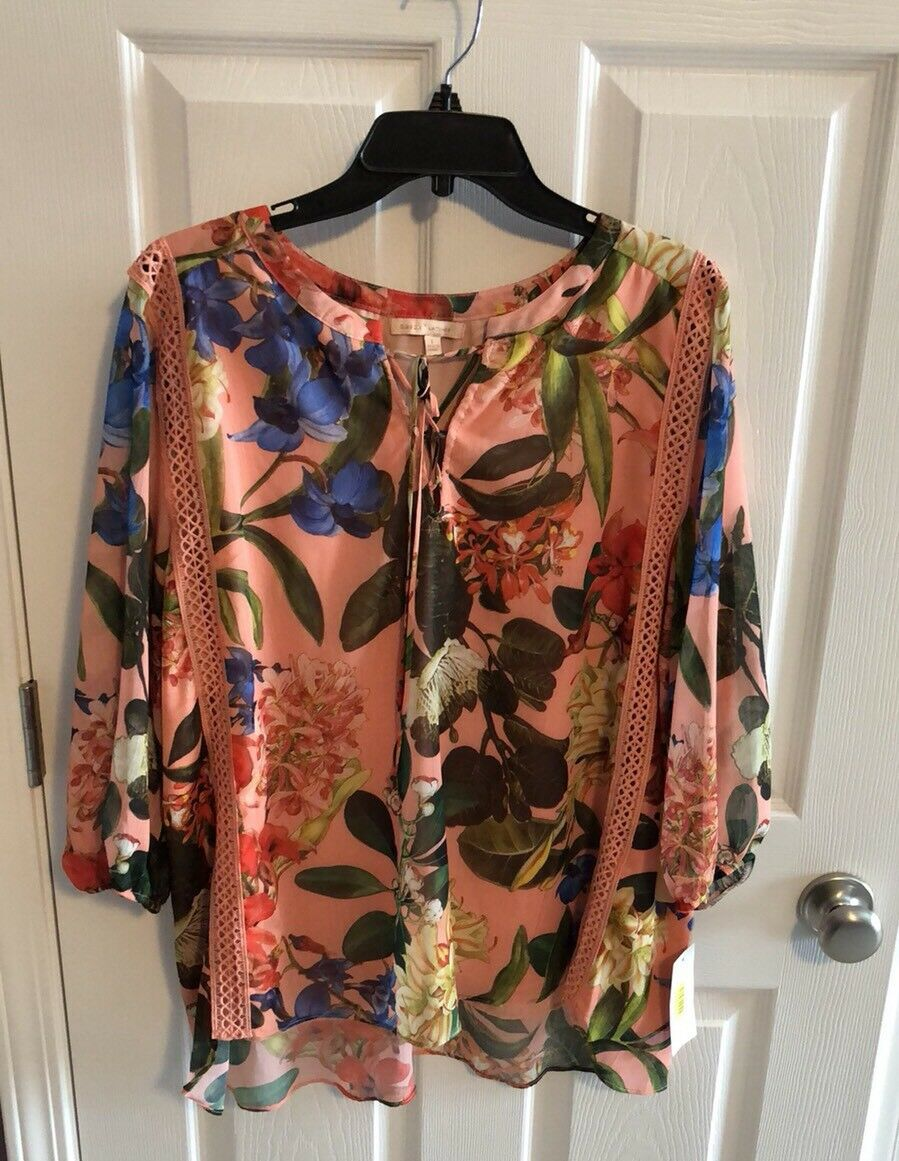 3ed3e1f8599 New L Pink Multi color Floral Gibson   Latimer Top Shirt Size ...