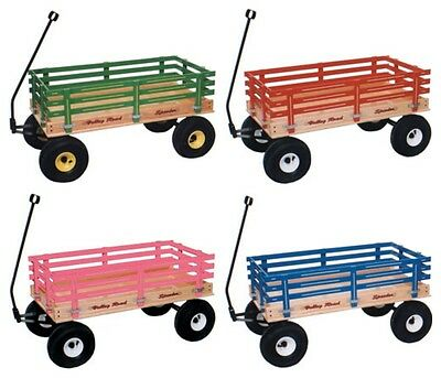 "CLASSIC WAGON 36"" Wood or Poly Garden Beach Cart Kids Wooden Pull Toy Amish USA"