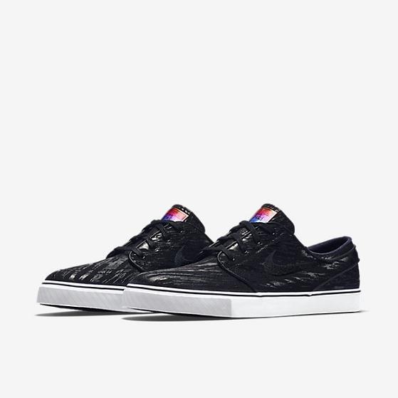 Mens Nike ZoomStefan Janoski Pr QS 678472-001 Black/Black Brand New Sz 10