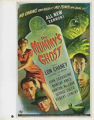 """2003 Vintage Horror /""""THE MUMMY/'S GHOST /"""" MINI POSTER   Art  Plate Lithograph"""