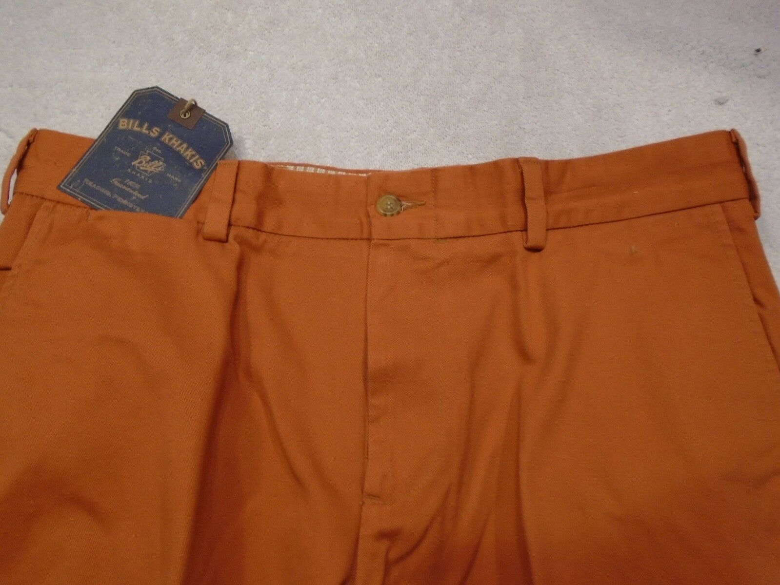 Bills Khakis Vintage Twill 100% Cotton Flat Front Pants NWT 35 x 32  M3