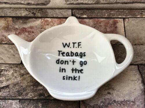 Rude Teabag Rest Tea Bag Rest BN Porcelain Tea Bag Rest Holder Tea Bag Rest