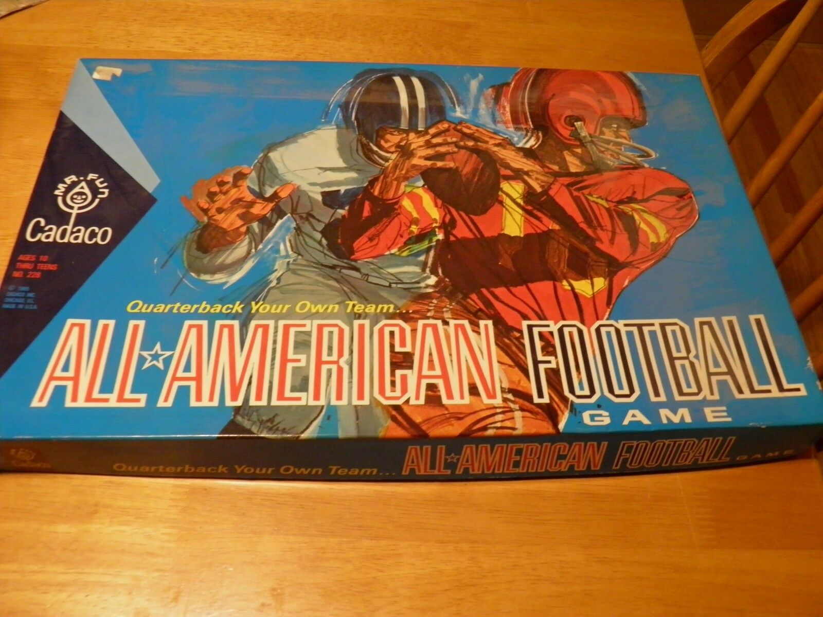 All American Football Game Cadaco 1965 COMPLETE