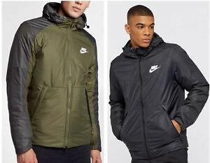 Nike-Thermore-EVOdown-Sportswear-Fill-Fleece-Lined-Hooded-Men-039-s-Jacket