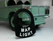 Land Rover Series Camper 1 2 2a 2b Metal Switch Tab Badge Decal Label Map Light