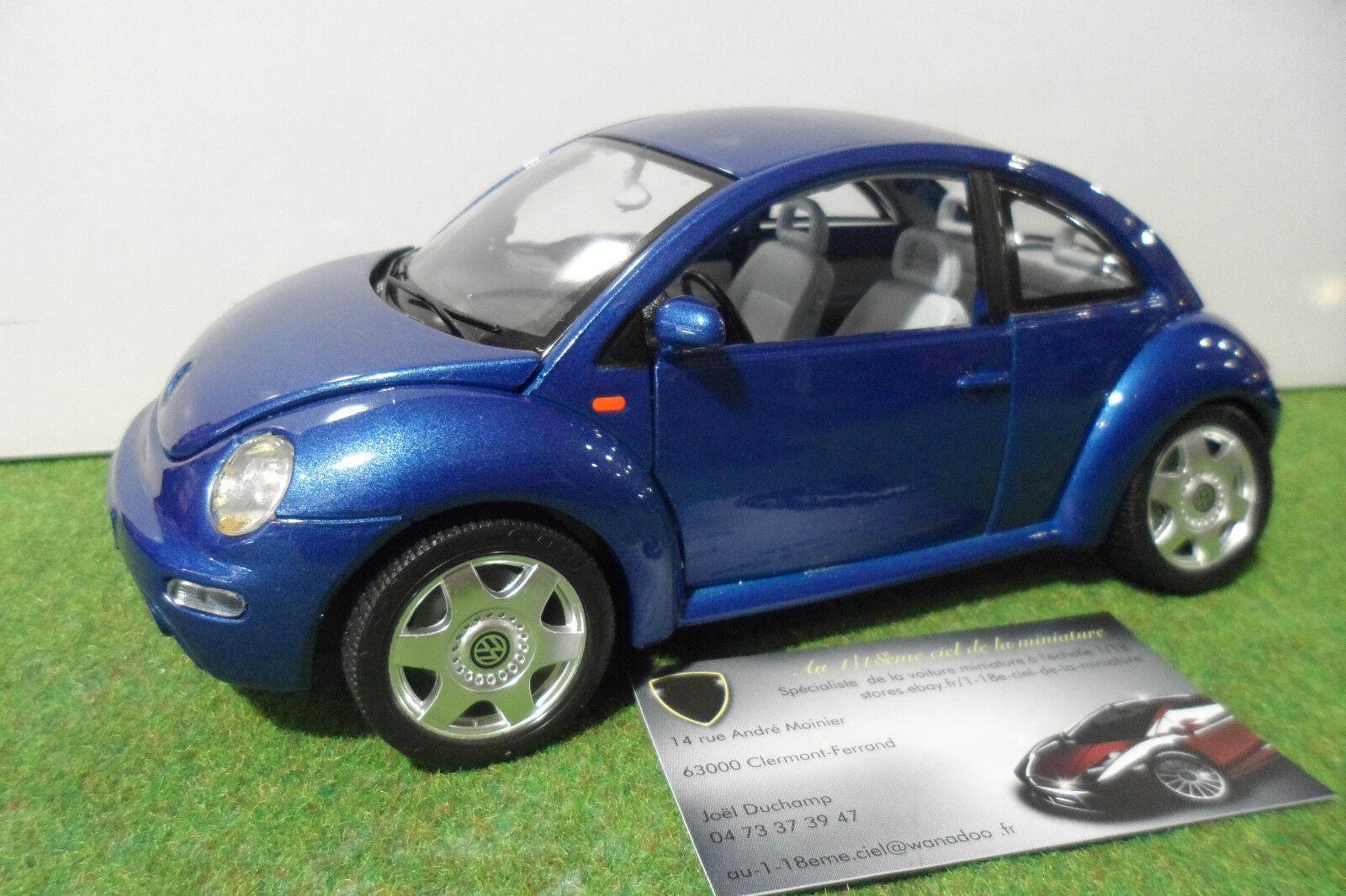 VOLKSWAGEN NEW BEETLE blu Coccinelle 1 18 BURAGO voiture avec system éclairage