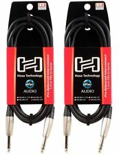 """2 Hosa HSS-010 10 Foot 1/4"""" TRS To 1/4"""" TRS Balanced Interconnect Audio Cables"""