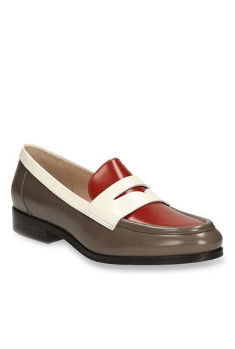 New Clarks Hotel Secret Rust /& Dark Grey Loafers Flat Shoes Size UK3.5E 6E 4D