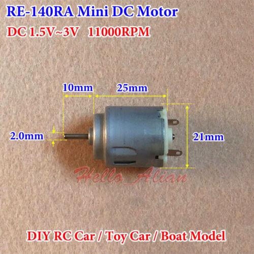 21mm DC1.5V~3V 11000RPM High Speed Mini RE-140RA Motor DIY RC Toy Car Boat Model