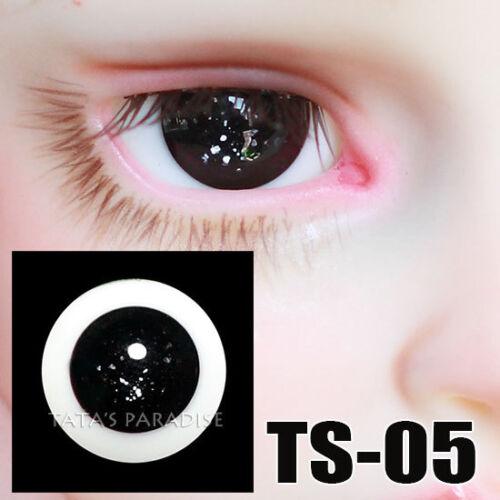 TATA glass eyes TS-05 14mm//16mm for BJD SD MSD 1//3 1//4 size doll use black