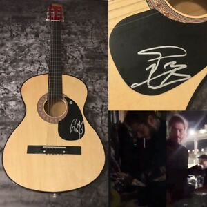 GFA-White-Iverson-Rockstar-POST-MALONE-Signed-New-Acoustic-Guitar-PROOF-COA