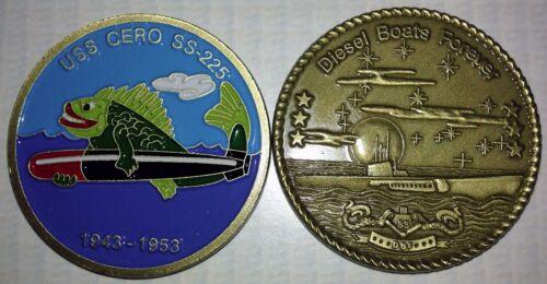 USS Cero SS 225 Submarine Coin DBF USN Sub