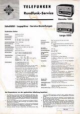 Service Manual Instructions for Telefunken Gavotte 1253, Largo 1253